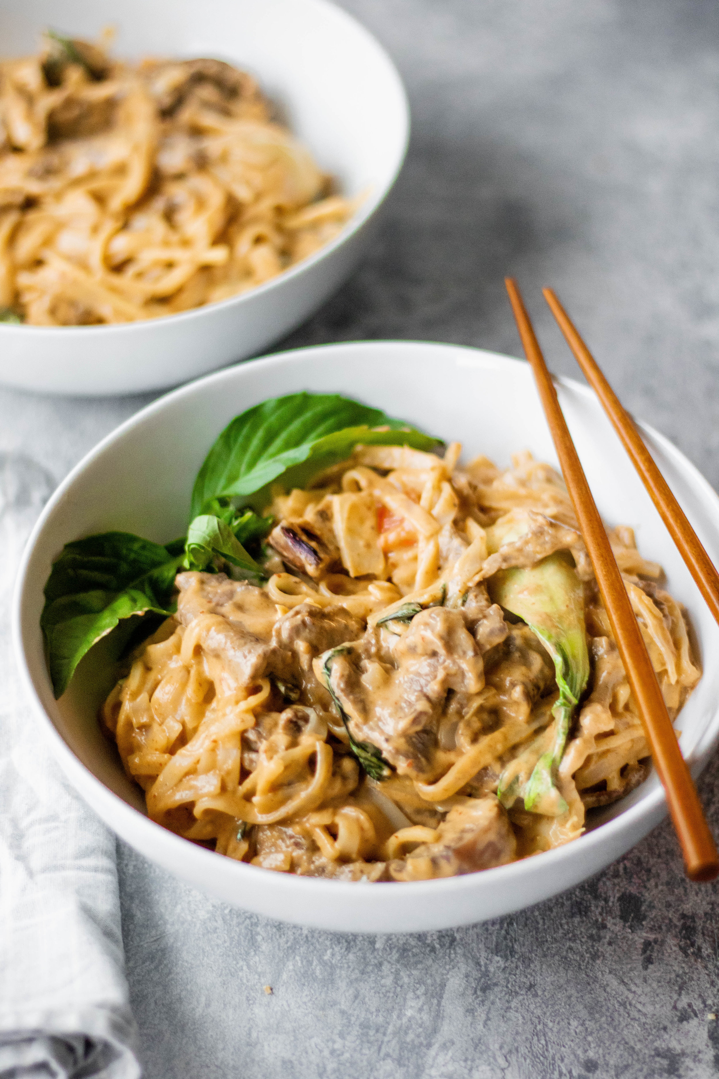 red curry beef noodles