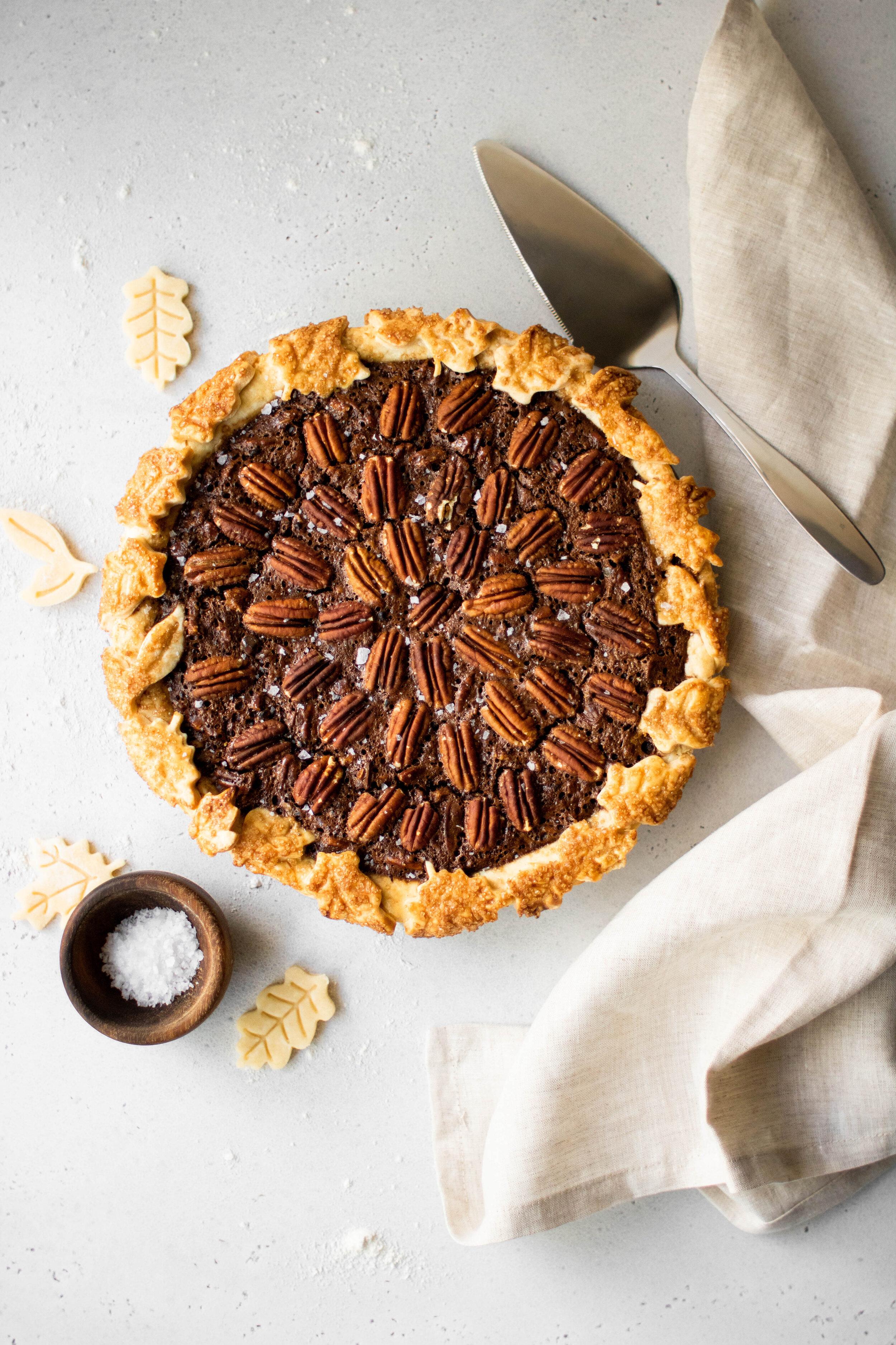 salted chocolate pecan pie