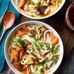 miso ginger chicken udon soup