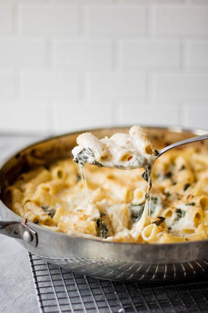 four cheese rigatoni