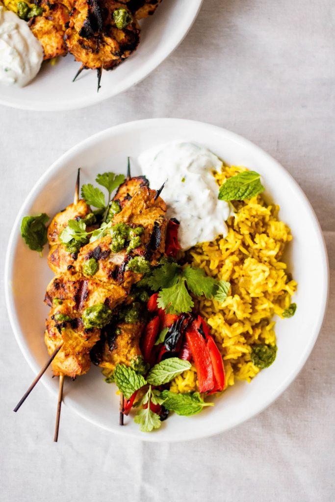 tandoori chicken bowls