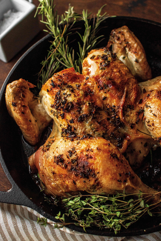 spatchcock roast chicken