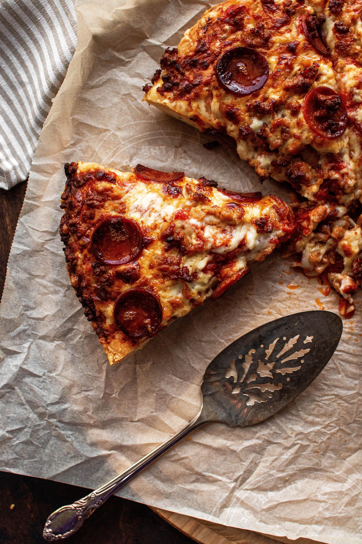 easy skillet pan pizza