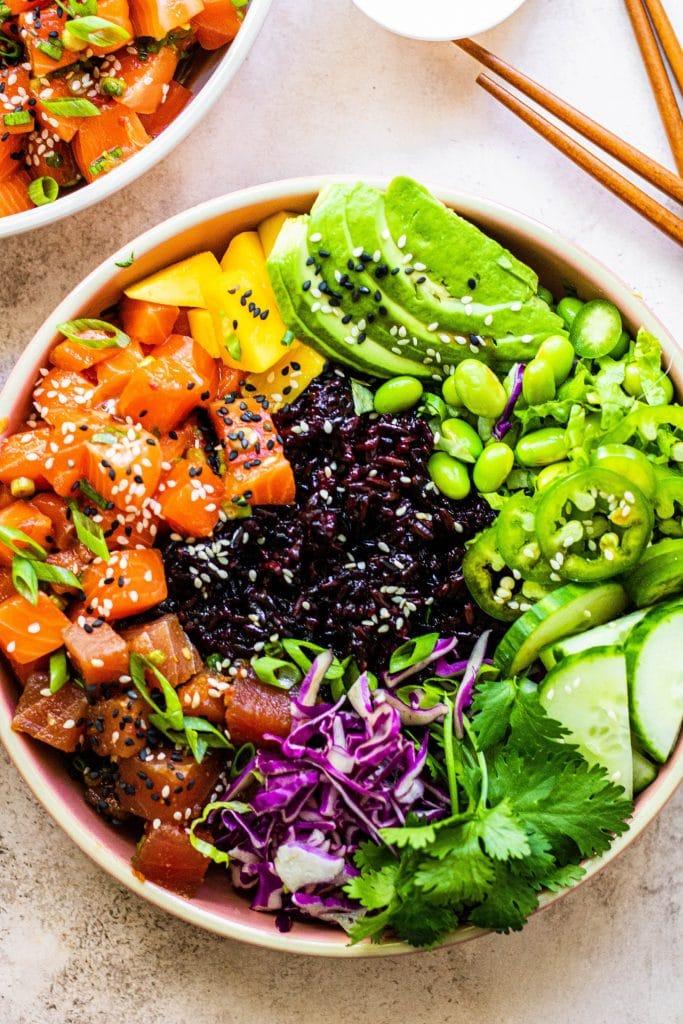 rainbow poke bowls