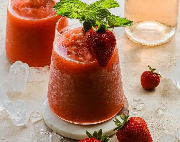 strawberry peach frose