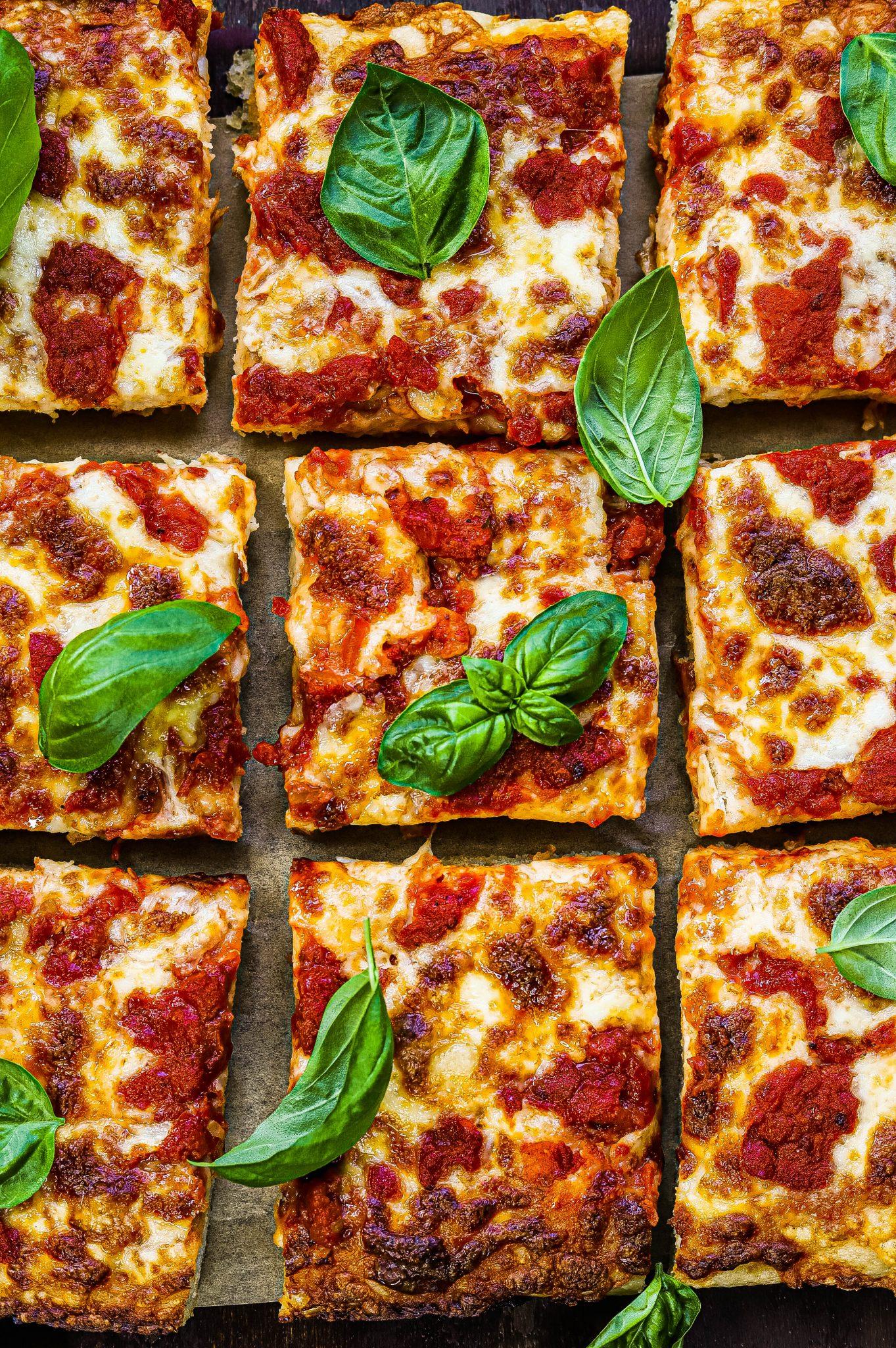 grandma style pizza